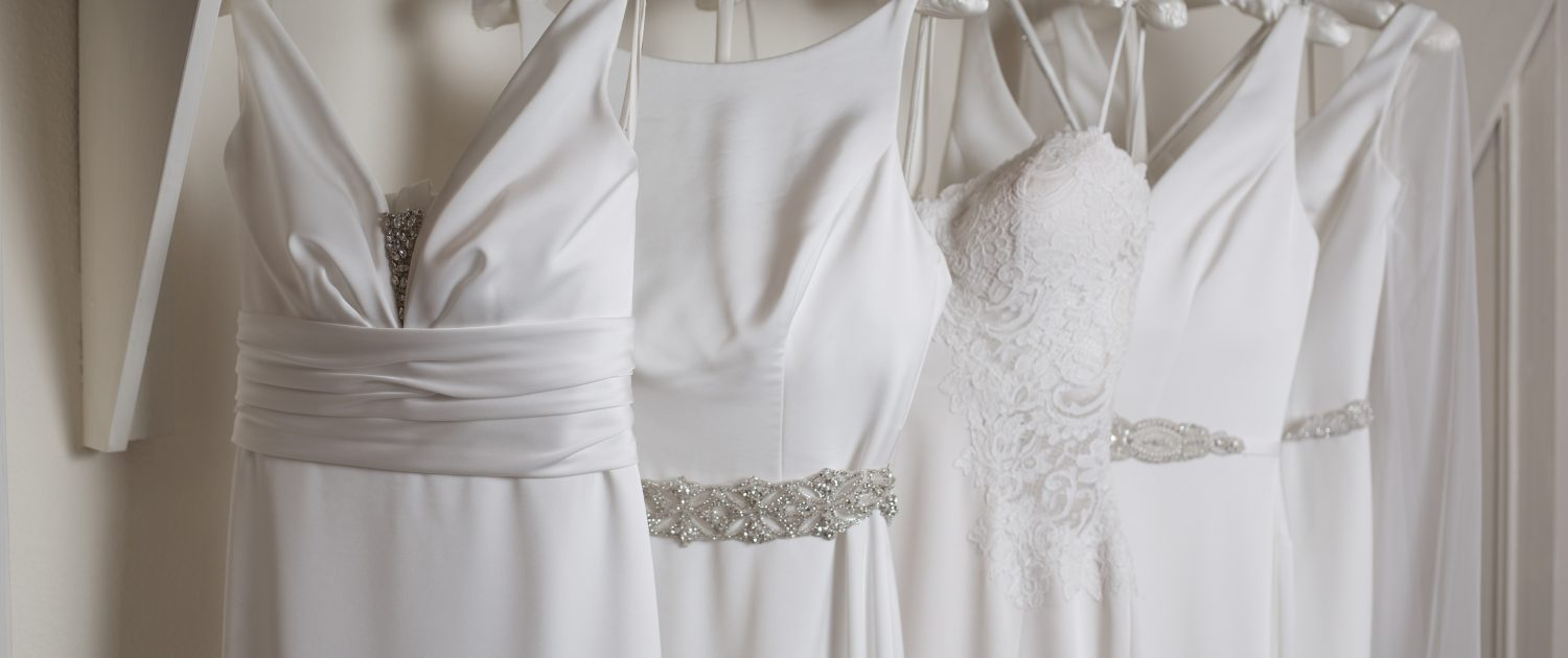 Photo of Wedding dresses hanging up