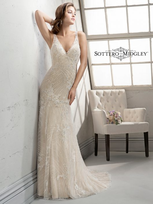 From the talented designers that created Maggie Sottero, the stunning fashion label Sottero and Midgley was born. The avant-garde styling, winning fit, quality and selection have defined the Sottero and Midgley signature to brides around the world.