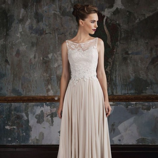 Photo of the Stephanie wedding gown designed by Jack Sullivan