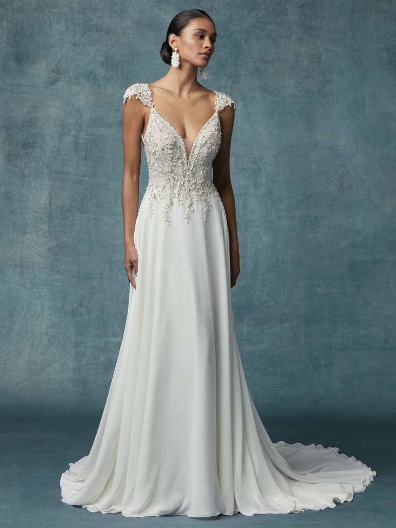 Maggie Sottero, Gabor, Ivory w/silver accents, Size 10, Was £1080, Now £850